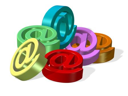 email 3d render