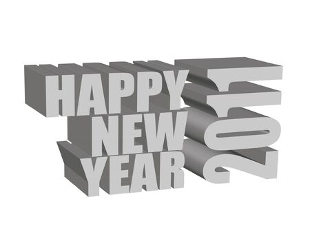 overwhite: 3d render of Happy New Year!