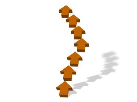 thrusting: arrows pointing upwards