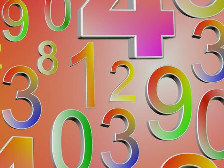 7 8: abstract numbers background Stock Photo