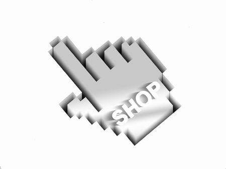 icon idea idiom illustration:           search the web-online shopping