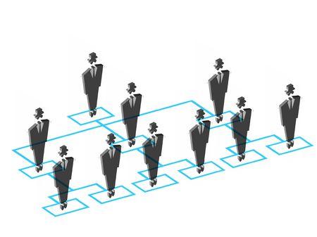 estructura: Diagrama de flujo de organizaci�n