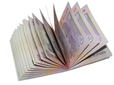 Indian Currency-INR 10 Stock Photo - 8000102