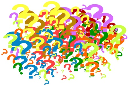 Question Marks background Stock Photo - 9762662
