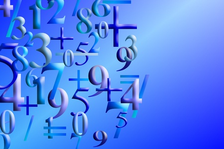 Numbers Background  photo