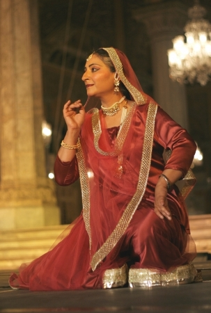 Hyderabad,Ap,India-April 23,2012-Canadian Kathak dancer and choreographer Deepti gupta performs during heritage week at chowmohalla palace built in 1869 by Nizams of Hyderabad state.