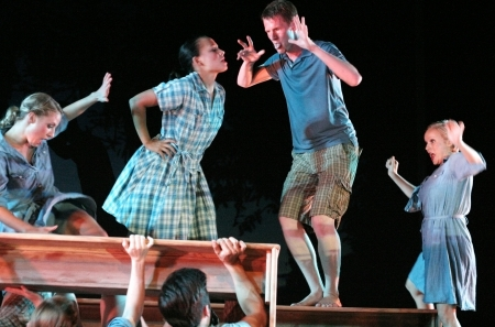 Hyderabad,Ap,India- July 31,2012-The theatre group of Brigham Young University,USA,perf orms The Rhythm of Life,American Contemporary Dance on tour to India.  Editorial
