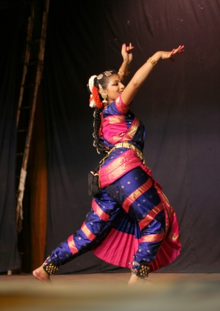 bharatanatyam dance: Hyderabad,Ap,India- June 16,2012-Krihika performing bharatanatyam, a classicla indian dance form in Thyagaraya gana sabha in ICCR event. Editorial
