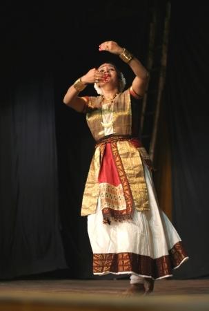 rasa: Hyderabad,Ap,India- June 16,2012-Dr Mrunanda performs Sattriya Dance ,assamese classical indian dance form of 15th century, in thyagaraya gana sabha,a ICCR event.