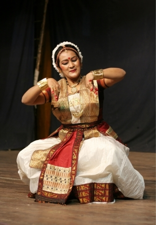 rasa: Hyderabad,Ap,India- June 16,2012-Dr Mrunanda performs Sattriya Dance ,assamese classical indian dance form of 15th century, in thyagaraya gana sabha,a ICCR event.