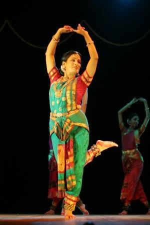 bharatanatyam dance: Hyderabad,Ap,India- August 24,2012:Smt Rajeswari sainath performing Bharatanatyam during anniversary celebration of vyshnavie dance academy at Ravindra Bharati.