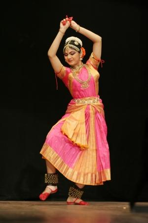 Secunderabad,Ap,India-June 05,2012-Eshita Jayaswal performs Bharatanatyam dance at ravindra bharati, A popular classical dance form of Tamil Nadu state.