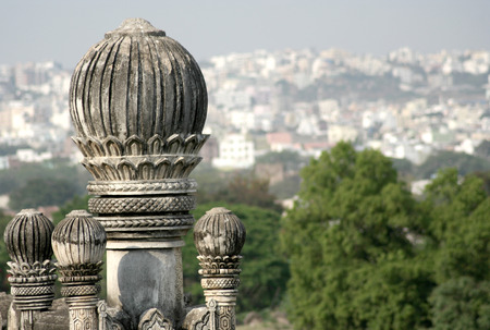 golconda: architectural details of monument Golconda,Hyderabad,India
