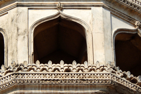 hyderabad: architectural details of  400 year old Charminar,Hyderabad,india. Stock Photo