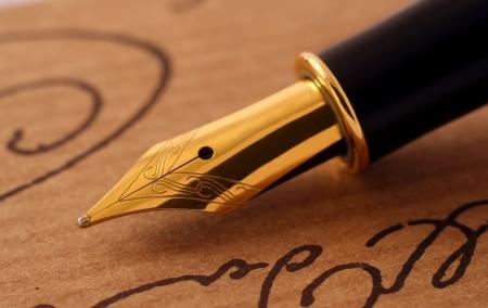 Antique fountain-pen close-up Stock Photo - 2467635