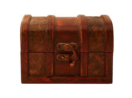 Isolated mahogany gift box Stock Photo - 2470104