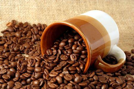 カップとコーヒー豆 写真素材 - 2558431