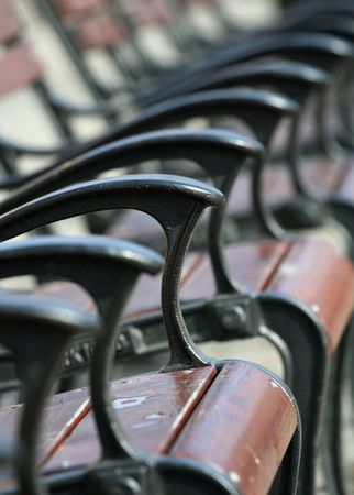 recital: Row of chairs - close up