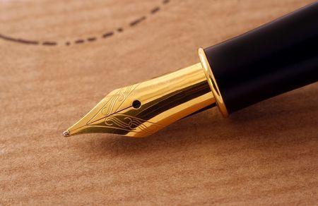 Elegant fountain pen  Stock Photo