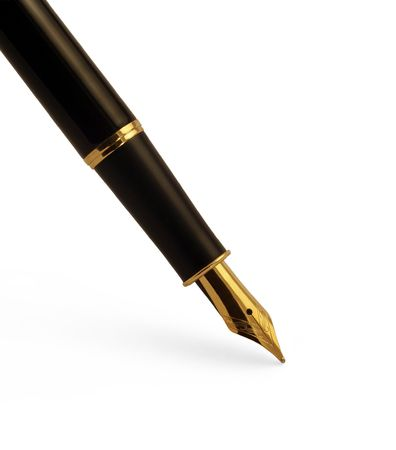 Elegant fountain pen with clipping path photo