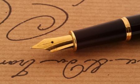 エレガントな anique フォンテーン ペン 写真素材 - 3762989