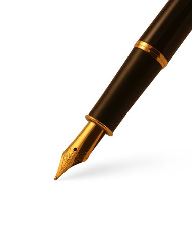 Isolated old fountain pen with clipping path Stock Photo - 3863302