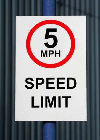 Speed limit 5 miles photo
