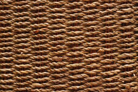 Rattan basket texture background photo