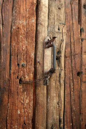 old brown rustic wood detail by Stock Photo