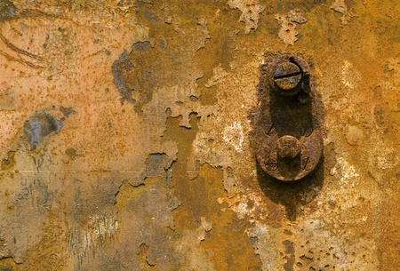 Textured rusty background with screw Stock Photo - 12044032