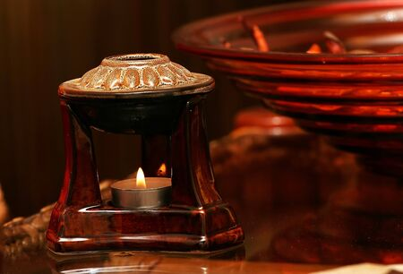Relax red aromatherapy candle photo