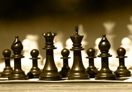 chessman: Black chess-man Stock Photo