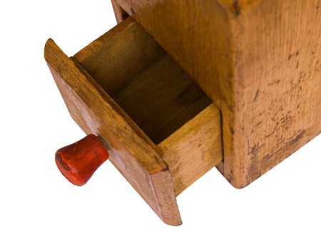 Small old wooden grinder case photo