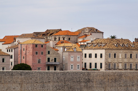 Colorful mediterranean houses in the old town in Dubrovnik, Croatia photo