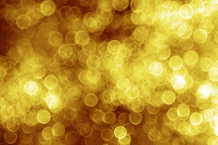 blurry: Golden Christmas lights - abstract blurry background