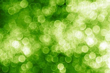 green christmas lights: Green Christmas lights - abstract blurry background