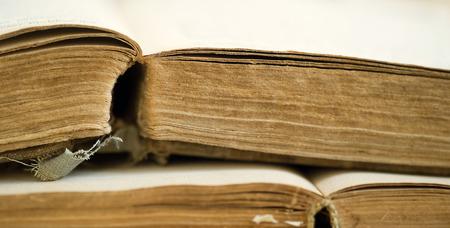 dusty: Old dusty books - wisdom, kowlidge concept Stock Photo