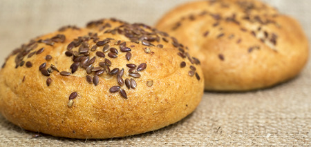diat product: Loaf with sesame seeds with copy space - banner Stock Photo