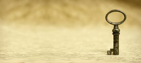 Key - Succès concept de solution et le site Web banner Banque d'images