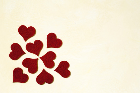 fleck: Love and Valentines day background with red hearts