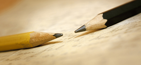lyrical: Web banner of two old pencils on a letter
