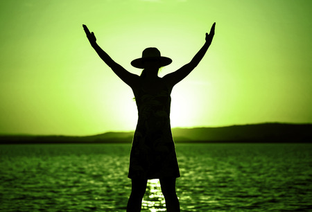 コーチング、モチベーションと緑色で自己実現概念 写真素材 - 71982814