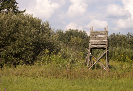 Hunting tower in the field for deer and boar game Reklamní fotografie