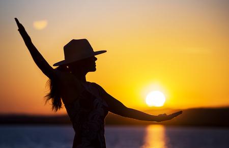 Happy woman - life coaching, motivation, self realization concept Stock Photo