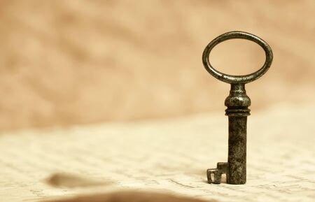 Lösungsschlüssel, Lebenscoaching, Mentorkonzept, Hintergrund mit Kopierraum Standard-Bild
