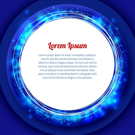 whiteblue: white-blue round frame with blue glow and text