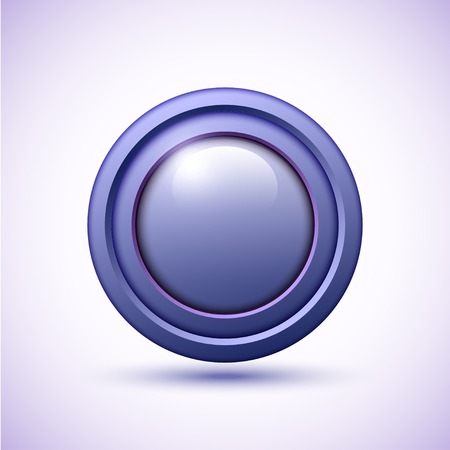 3d button blue with scratches illustration Vector