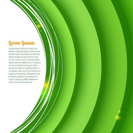 trajectoire: demi-cercles de papier verts et fond de trame avec le texte et l'�clat