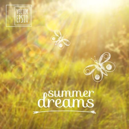Ilustración Boceto de verano sueña en las imágenes de fondo. Foto de archivo - 26703571