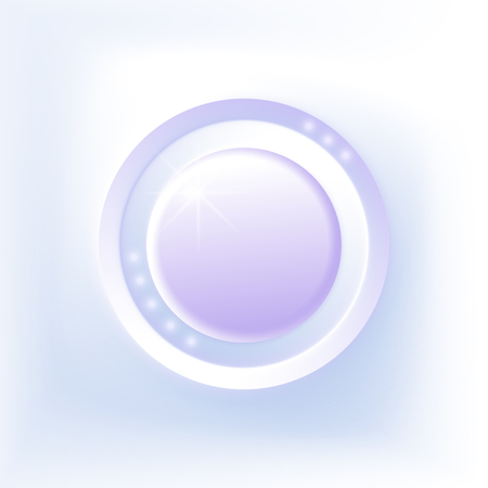 illustration white - blue  3d button. Vector